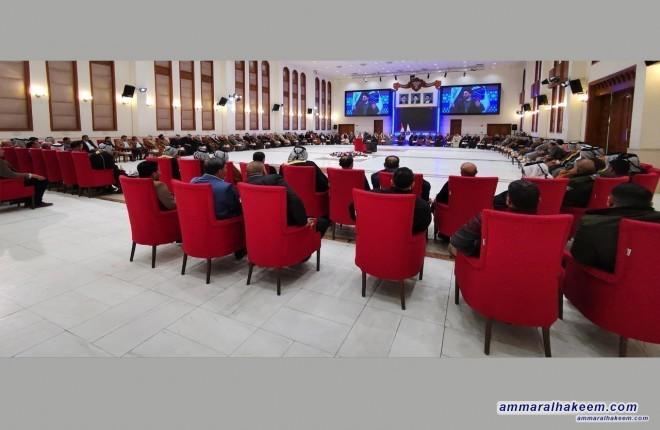 السيد عمار الحكيم يستقبل جمعا من امراء وشيوخ ووجهاء  العشائر العراقية
