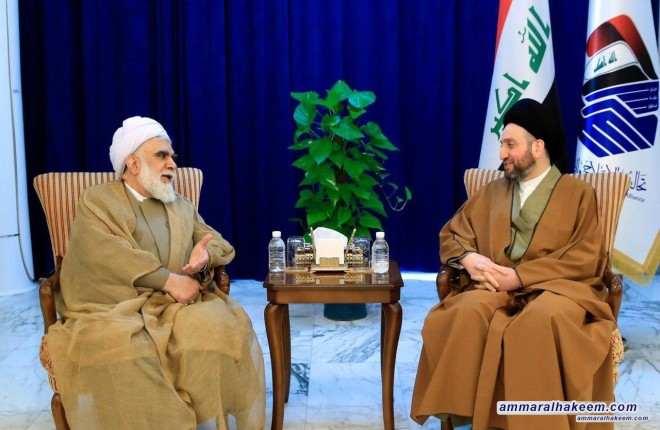 Sayyid Ammar al-Hakim receives Sheikh Akhtari President of the Ahlul Al-Bayt World Assembly