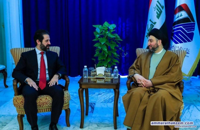 Sayyid Ammar al-Hakim receives Qubad Talabani to discuss supporting the government and the completing the ministerial cabinet