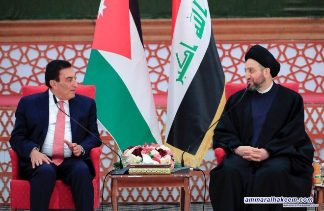 Sayyid Ammar al-Hakim receives Al-Tarawneh and emphasizes deepening relations between Iraq and Jordan