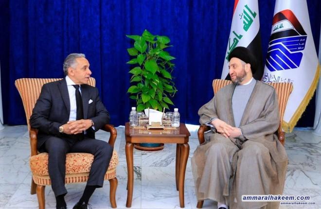 السيد عمار الحكيم يبحث مع علاء موسى دور العراق ومصر في تحقيق الاستقرار في المنطقة