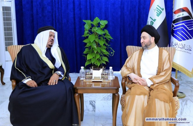 السيد عمار الحكيم يدعو شيوخ ووجهاء قضاءي الشرقاط وبيجي لدعم المشروع الوطني باعتباره ضمانة لمستقبل العراق