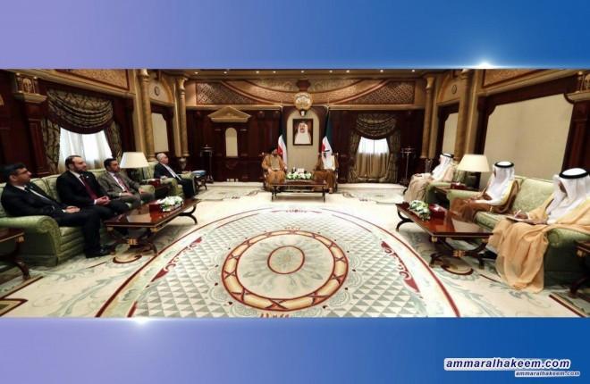 السيد عمار الحكيم يلتقي ولي عهد الكويت ورئيس وزرائها ويبحث تطوير العلاقات بين البلدين