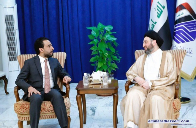 السيد عمار الحكيم للحلبوسي .. خيار المعارضة ستراتيجي وسيمكن العملية السياسي من الانتظام