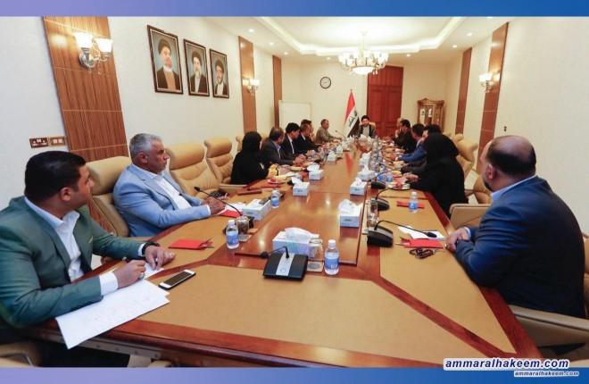 السيد عمار الحكيم يطالب كتلة الحكمة النيابية بان تكون معبرة عن تطلعات الشعب وعن المطالبة بالخدمات