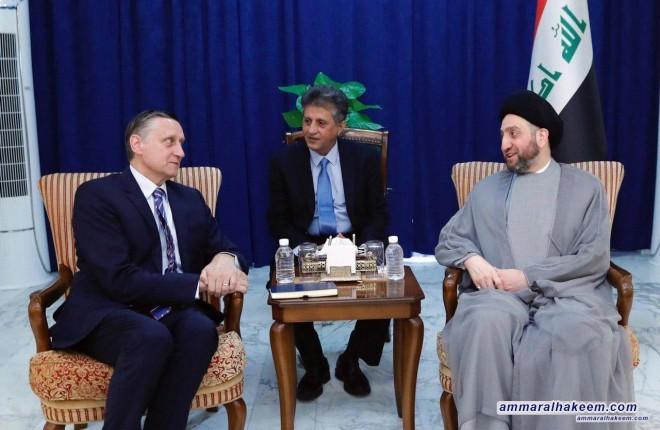 السيد عمار الحكيم يستقبل السفير الالماني ويبحث معه مستجدات الوضع الاقليمي والدولي