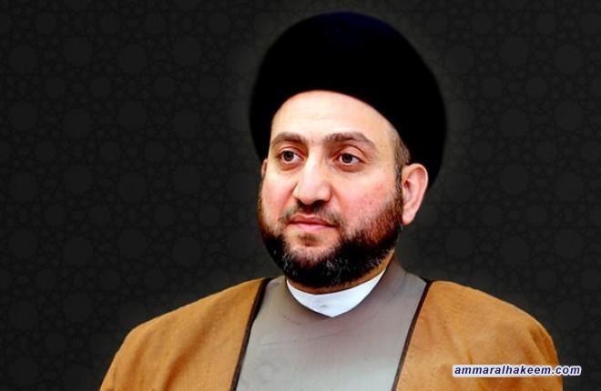 السيد عمار الحكيم يعزي امين عام جامعة الدول العربية بوفاة نائبه احمد بن حلي