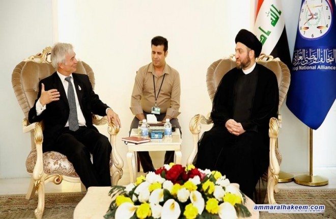 Meeting the European Union Ambassador... Sayyid Ammar al-Hakim: Government's efforts to support the unity of Iraq serves everyone and will not affect the citizens