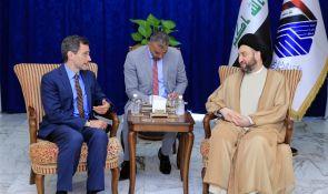 السيد عمار الحكيم يبحث مع هود التطورات السياسية والعلاقات الثنائية بين البلدين