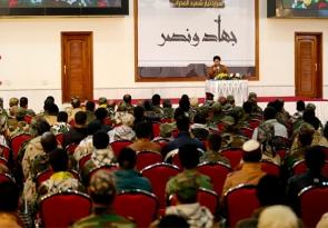 خلال لقائه مجاهدي سرايا عاشوراء.. السيد عمار الحكيم يشدد على الالتزام بالاوامر العسكرية