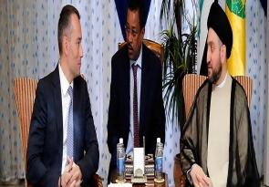 السيد عمار الحكيم يبحث مع ممثل الامم المتحدة في العراق تطورات الاوضاع الامنية والسياسية