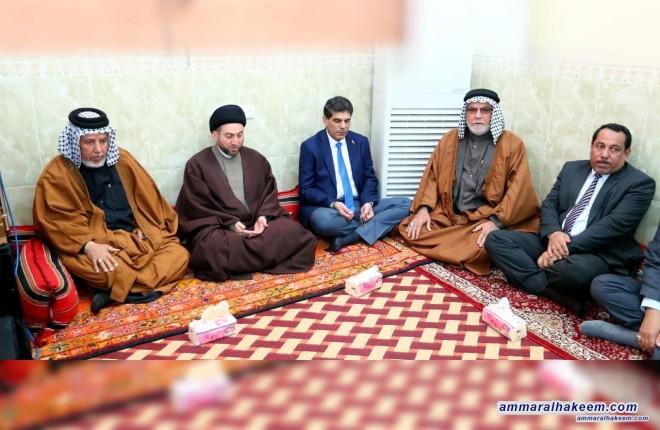 السيد عمار الحكيم يتفقد عوائل الشهداء في البصرة الفيحاء