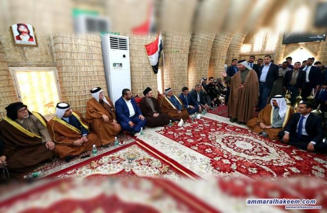 السيد عمار الحكيم : الوطنية تعني التفكير بمصالح الشعب ورفع شعار العراق اولا وللعراق ننتمي