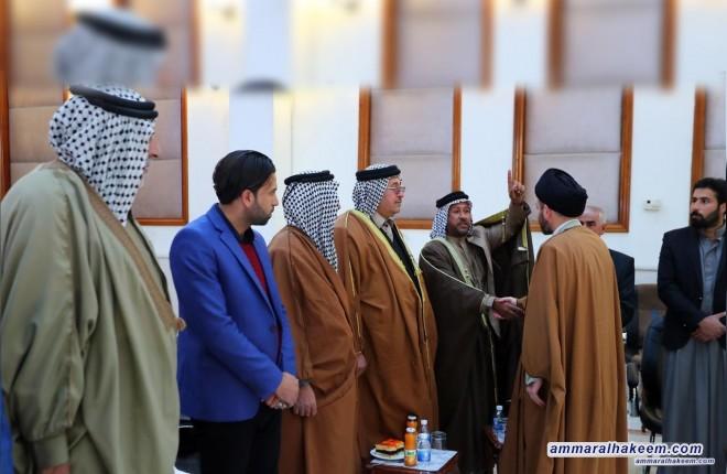 امام تحد رابع  السيد عمار الحكيم : تحدي بناء الدولة والمؤسسات يحتاج الى رؤية وفريق كفوء وحسن اختيار من الناخب العراقي