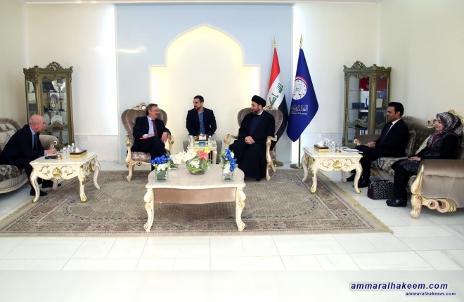 Sayyid Ammar al-Hakim meets Spanish ambassador to discuss bilateral relations and international support for Iraq