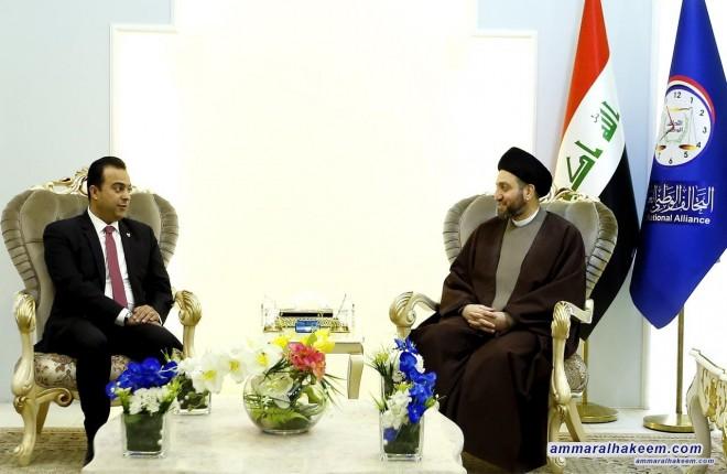 Sayyid Ammar Al-Hakim receives a parliament delegation from Bahrain to discuss common relations between the Iraq and Bahrain