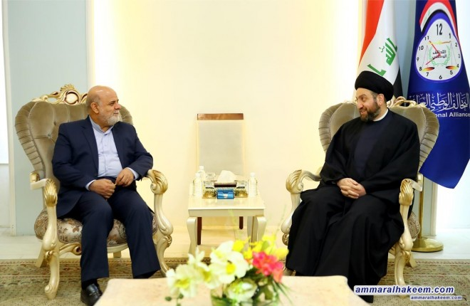Sayyid Ammar al-Hakim receives the Iranian ambassador to discuss political developments and the situation in the region