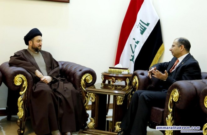 Head of the National Iraqi Alliance Sayyid Ammar al-Hakim to meet the Speaker of the Council of Representatives