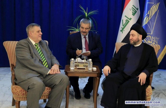 Sayyid Ammar al-Hakim receives UN Secretary-General Jan Kubis