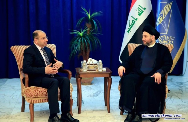 Sayyid Ammar al-Hakim receives Salim al-Jubouri to discuss with forming the government