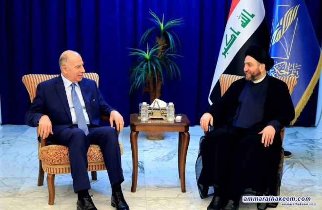 Sayyid Ammar al-Hakim with Osama al-Nujaifi to discuss the latest developments in the political situation the future government