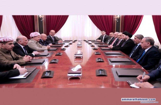 The Reform and Building Alliance delegation discusses with Barzani latest political situation and forming the government