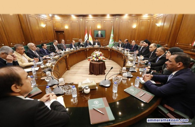 The Reform and Building delegation headed by Sayyid Ammar al-Hakim meets PUK's Political Bureau to discuss forming the government