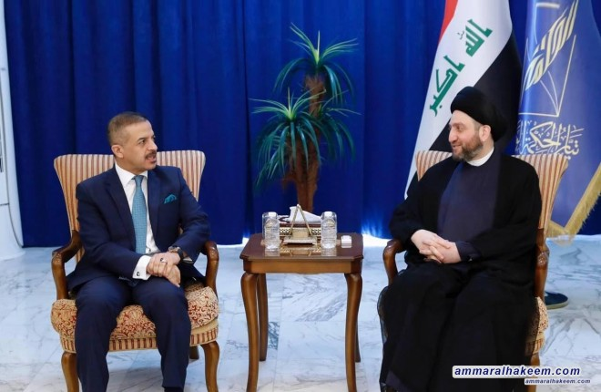 Sayyid Ammar al-Hakim mets with the the National Dialogue Front to discuss support to government and the structure of Reform and Reconstruction alliance
