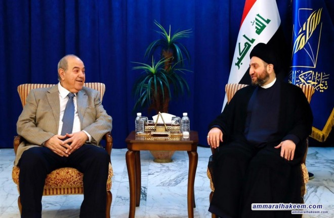 Sayyid Ammar al-Hakim with Dr. Ayad Allawi to discuss latest political situation and forming the government