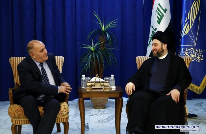 Sayyid Ammar al-Hakim receives Patriotic Union of Kurdistan delegation to discuss the latest political situation