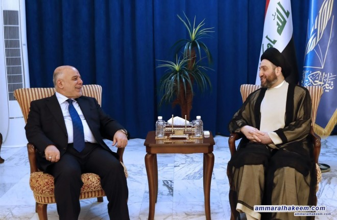 Sayyid Ammar al-Hakim with Abadi to discuss latest developments in the political situation and completing government cabinet