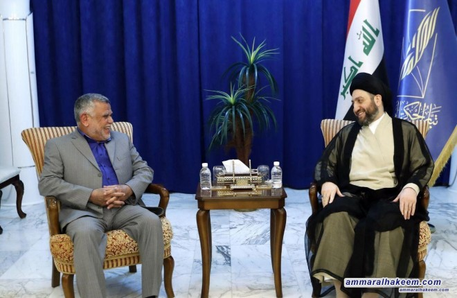 Sayyid Ammar Al-Hakim receives Mr. Hadi Al-Amiri to discuss completion of the government cabinet