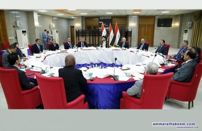 The Reform and Reconstruction Alliance first institutionalization step unanimously elect Sayyid Ammar al-Hakim as president