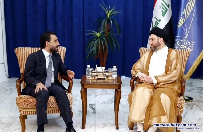Sayyid Ammar al-Hakim urges Halbousi to unify visions sanction important laws