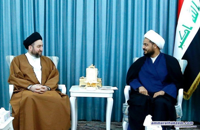 Sayyid Ammar al-Hakim meets Sheikh Qais al-Khazali to discuss completing the government cabinet