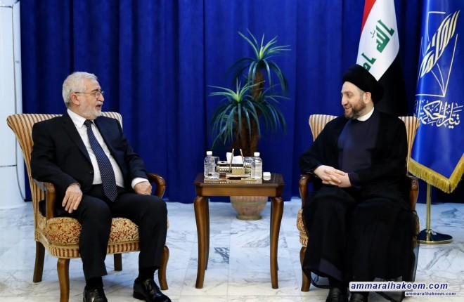 Sayyid Ammar al-Hakim receives delegation of the Iraqi Islamic Party headed by Dr. Ayad al-Samarrai to discuss latest political and regional situation