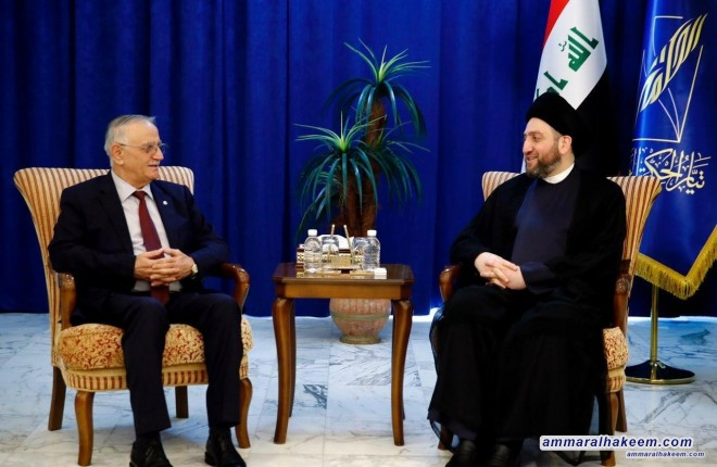Sayyid Ammar al-Hakim receives the Rafidain Coalition delegation headed by Yonadam Kanna