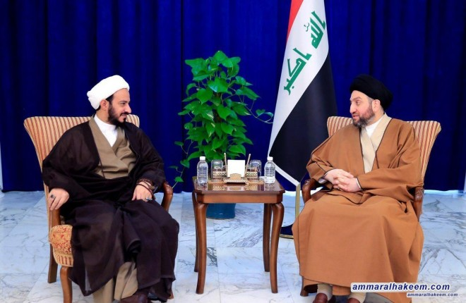 Meeting Sheikh Sa'idi, Sayyid Ammar al-Hakim emphasise the need to enact important laws