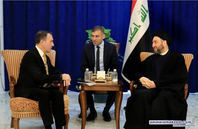 السيد عمار الحكيم يستقبل السفير التركي فاتح يلدز ويؤكد على احترام سيادة العراق