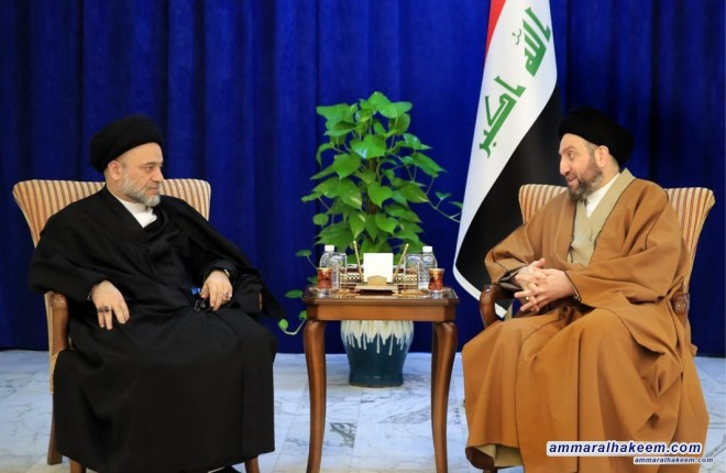 Sayyid Ammar al-Hakim receives head of the Shiite Endowment Office Sayyid Alaa al-Mousawi