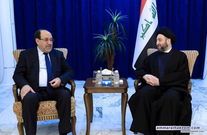 Sayyid Ammar al-Hakim with Maliki to discuss institutionalization of the two major alliances and completing the government cabinet