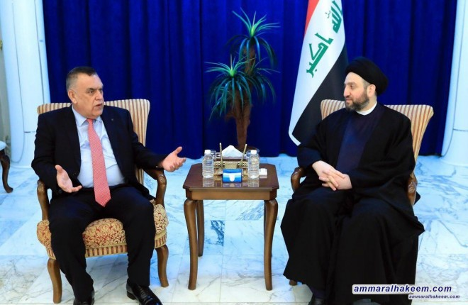Sayyid Ammar al-Hakim receives the delegation of the Patriotic Union of Kurdistan to discusses latest political situation