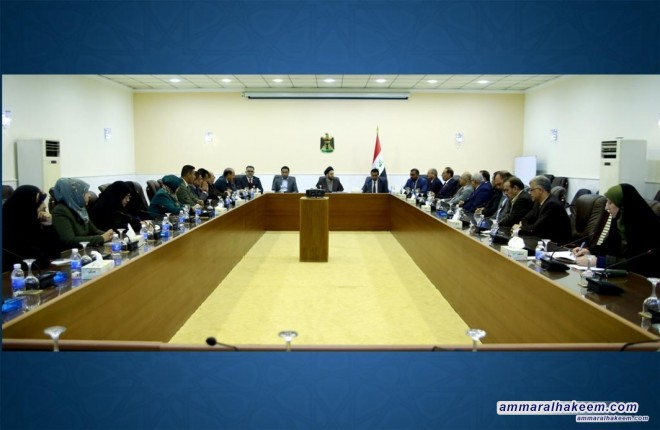Sayyid Ammar al-Hakim congratulates forming the Reform and Reconstruction bloc in Baghdad Provincial Council and emphasizes provision of services