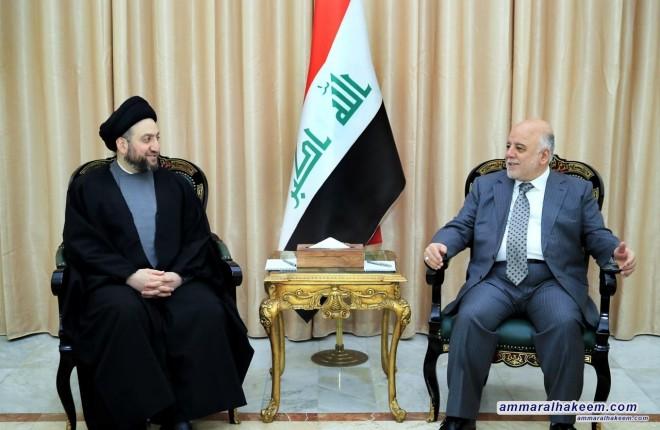 السيد عمار الحكيم يشدد خلال لقائه العبادي على احترام السيادة العراقية وجعلها البوصلة الرئيسية
