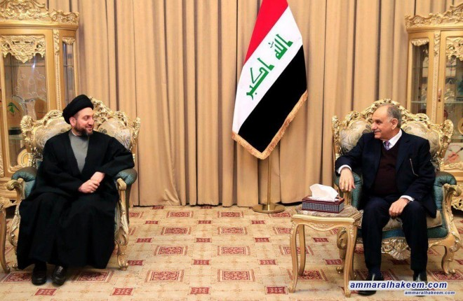 Sayyid Ammar al-Hakim meets Dr. Saleh al-Mutlaq to discuss completing the government cabinet