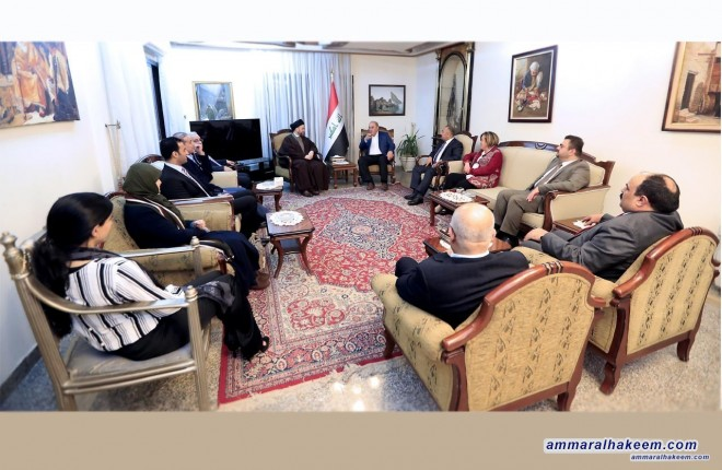 Sayyid Ammar al-Hakim with Dr. Ayad Allawi discusses institutionalizing the Reform and Reconstruction Alliance and supporting the government to implement its program