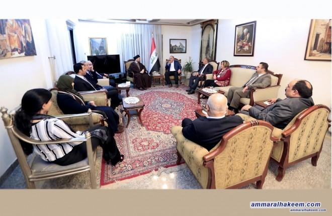 السيد عمار الحكيم يبحث مع الدكتور اياد علاوي مأسسة تحالف الاصلاح والاعمار ودعم الحكومة في تنفيذ برنامجها
