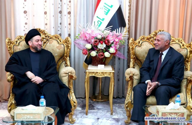 Sayyid Ammar al-Hakim to meet the governor of Wasit Mr. Mahmoud Mulla Talal and discusses the reality of service in the province