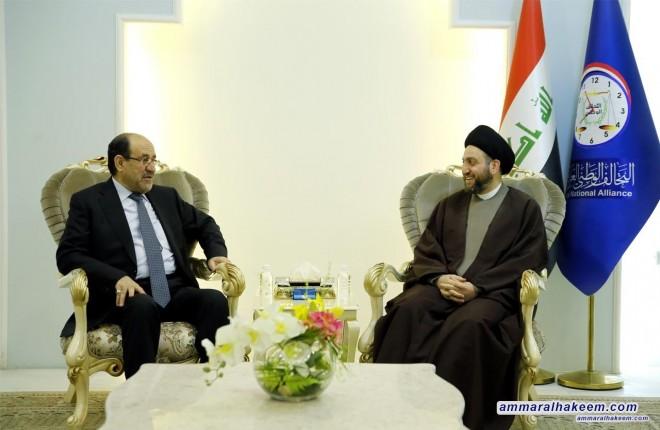 Sayyid Ammar al-Hakim receives the Vice-President Nuri al-Maliki