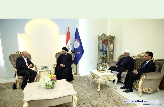 Sayyid Ammar al-Hakim receives Member of People's Council of Syria MP Hussein Ragheb
